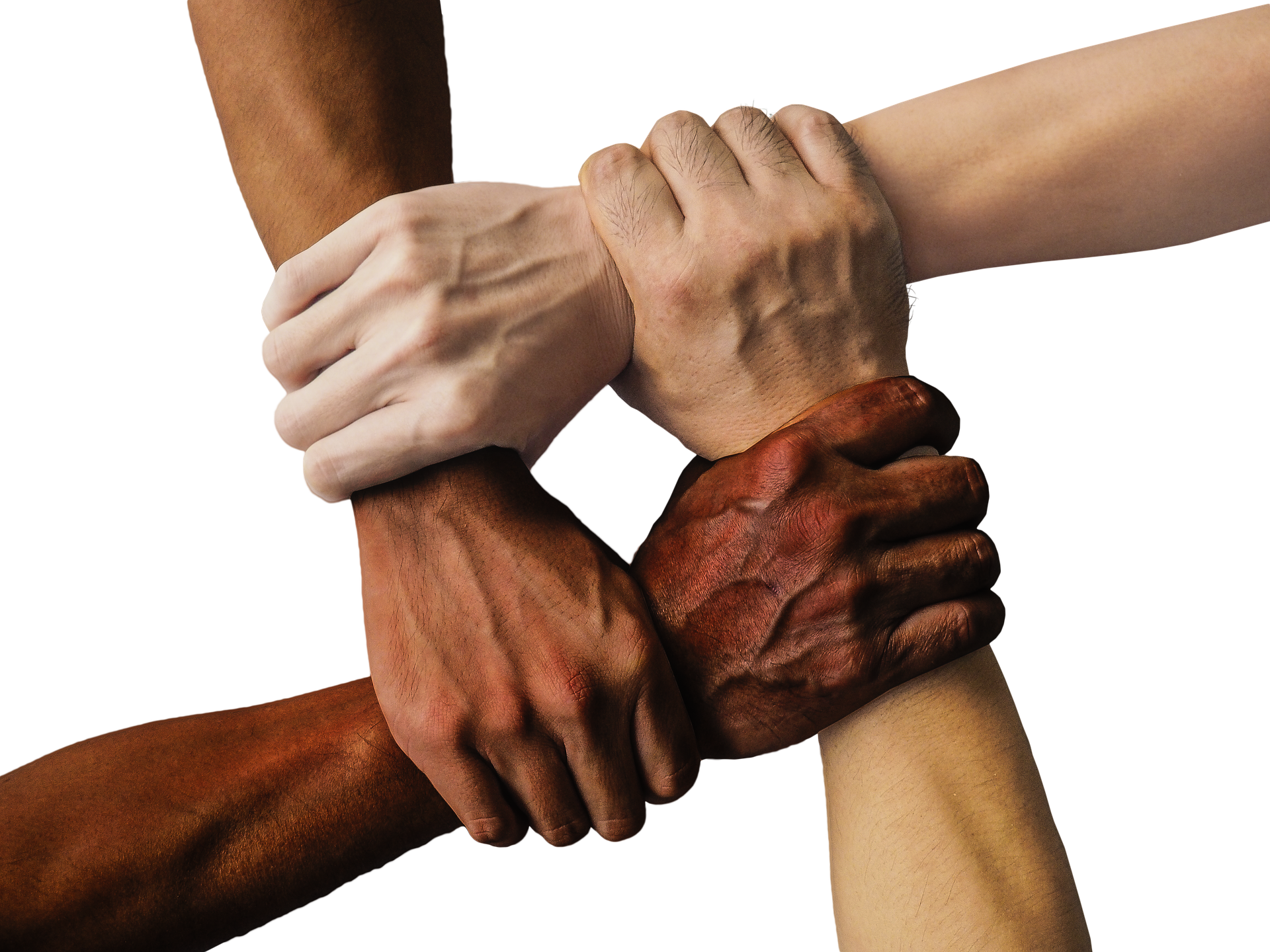 Disability Rights - Multi Ethnic Hands forming a square